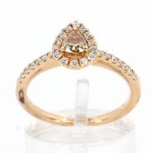 Chocolate Diamond Ring Rose Gold
