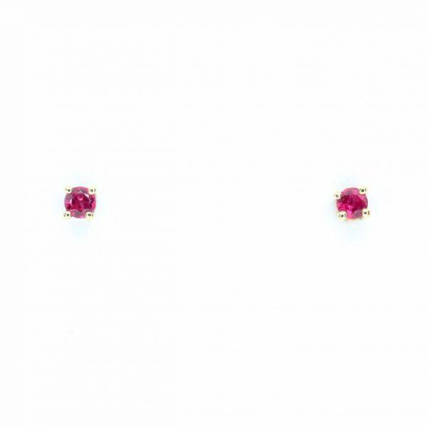 Round Cut Ruby earrings