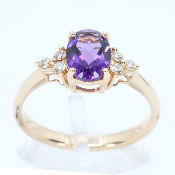 Amethyst Ring with Diamond