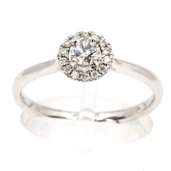 Round Brilliant Cut Faint Pink Diamond Ring