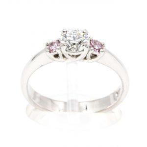Diamond & Pink Diamond Trilogy Ring Set