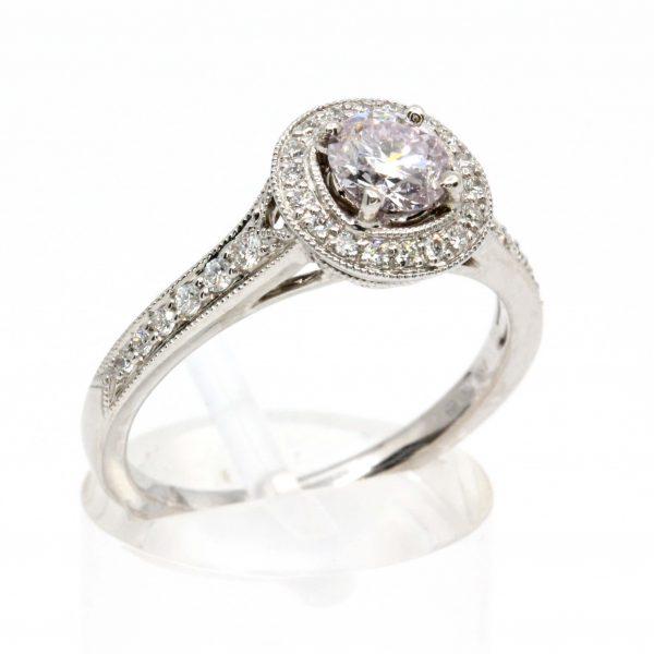 Round Brilliant Cut Pink Diamond Ring