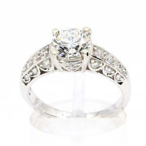 1.35ct Round Brilliant Diamond Ring set in 18ct White Gold