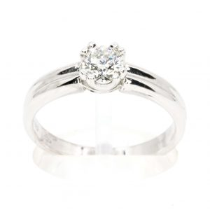 Round Brilliant Cut Diamond Solitaire set in 18ct White Gold