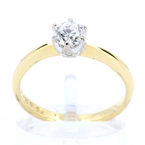 Diamond Ring with Diamond Accents set in 18ct Yellow Gold