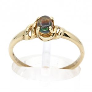 Claw Set Black Opal Ring