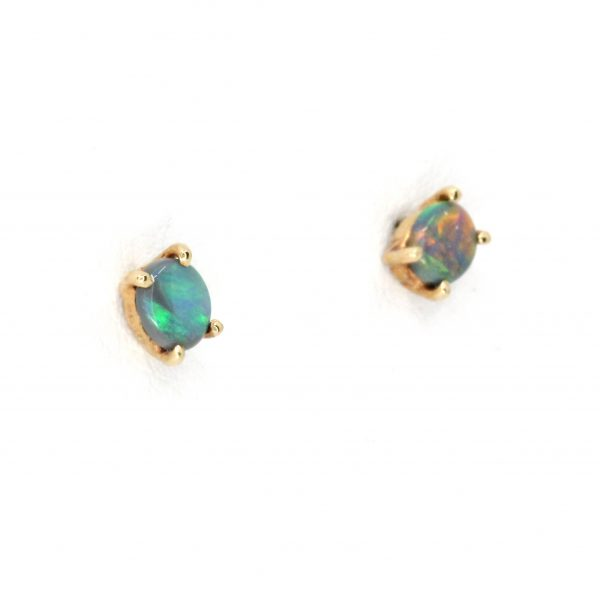 Crystal Opal Drop Stud Earrings in 14ct White Gold