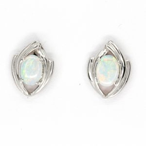 fancy crystal opal stud earrings