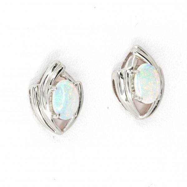 fancy crystal opal stud earrings