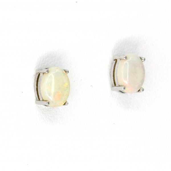 crystal opal stud earrings