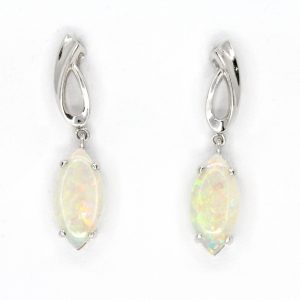 Crystal Opal Drop Stud Earrings