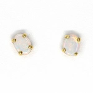crystal opal earrings gold