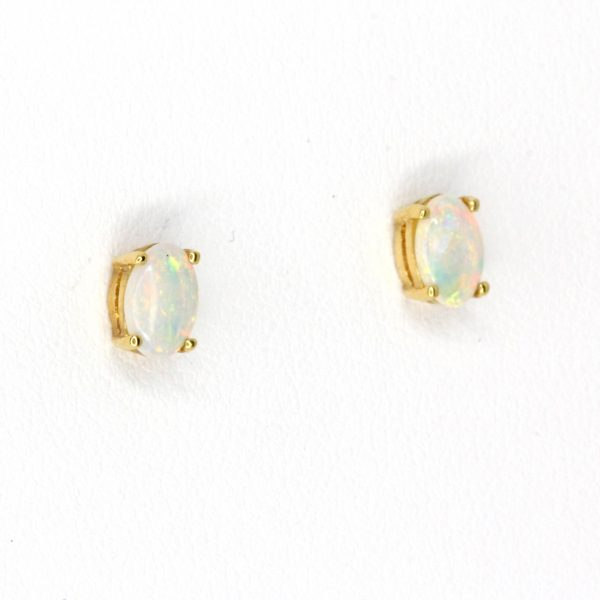 crystal opal earrings gold
