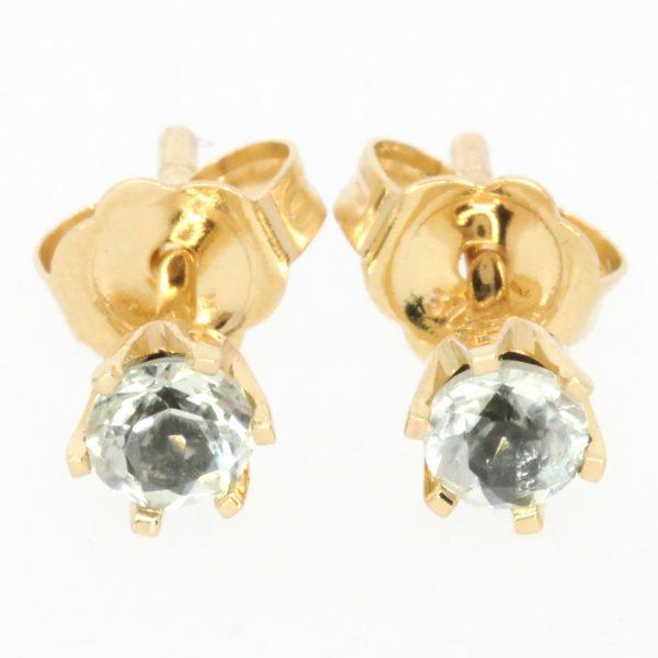 round cut white earrings