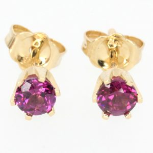 round cut amethyst earrings