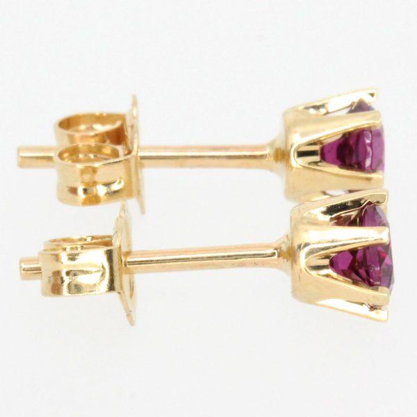 round cut amethyst earrings