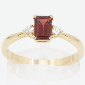 brown tourmaline diamond ring