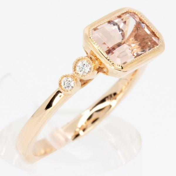 square morganite ring