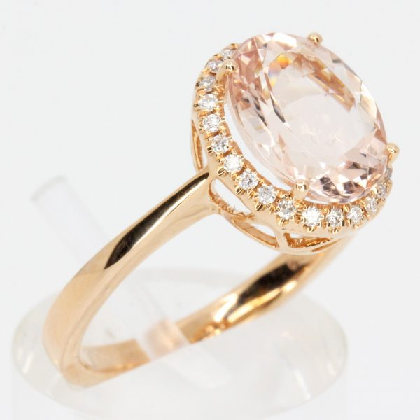 round morganite ring