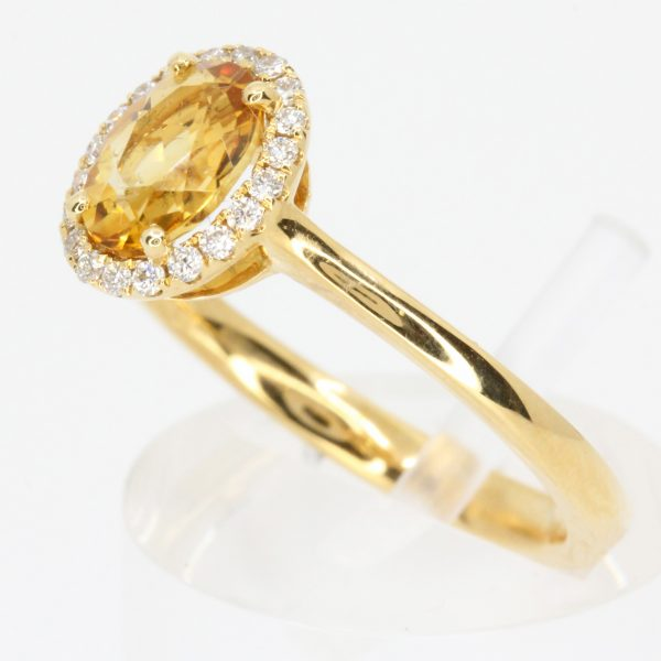 round citrine ring