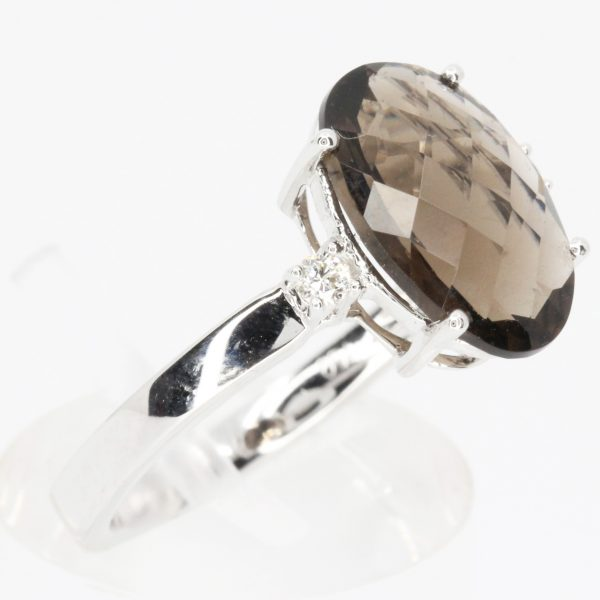 morganite stone diamond ring