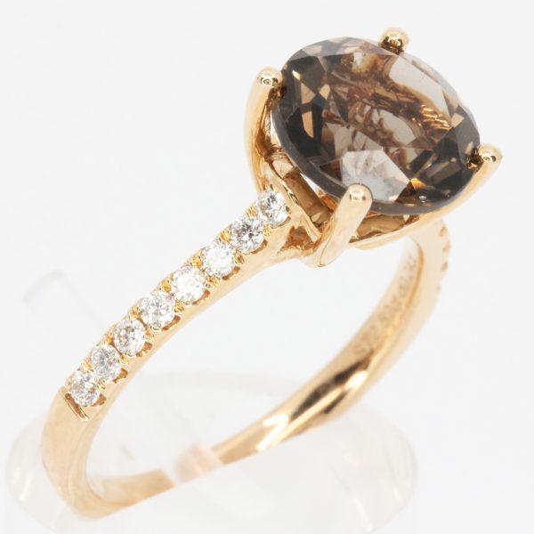 morganite stone ring
