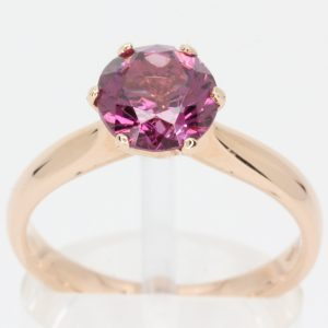 pink diamond yellow gold ring