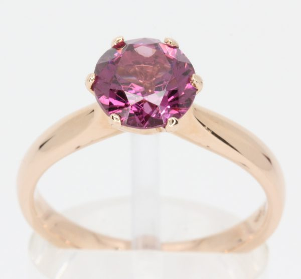 pink diamond yellow gold ring