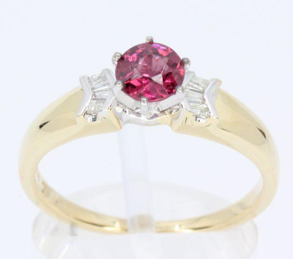 ruby stone diamond ring