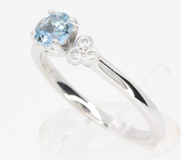 coloured diamond white gold ring