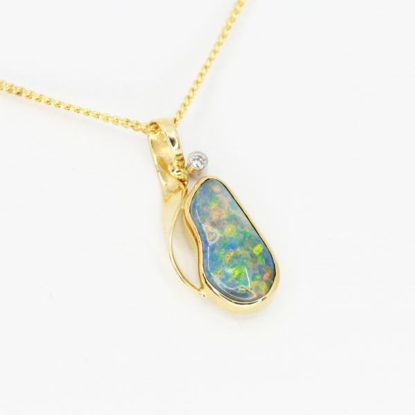 color gemstone pendant necklace