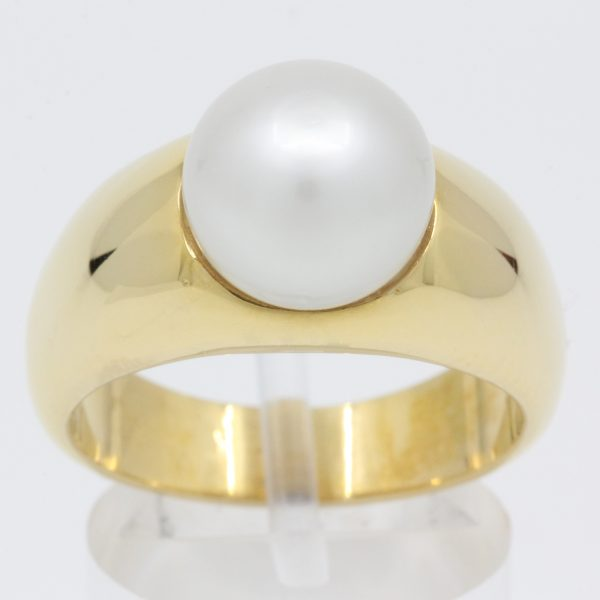 white south sea pearl ring set